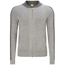 Buy BOSS Orange Kabomer Full Zip Sweatshirt, Pastel Grey Online at johnlewis.com