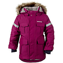 Buy Didriksons Children's Nokosi Waterproof Parka, Dark Lilac Online at johnlewis.com