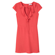 Buy Mango Flowy Tie Neck Dress, Bright Red Online at johnlewis.com