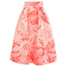 Buy Coast Kalida Jacquard Skirt, Coral Online at johnlewis.com