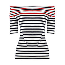 Buy Oasis Stripe Bardot Top, Multi Online at johnlewis.com