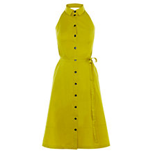 Buy Karen Millen Halterneck Shirt Dress, Lime Online at johnlewis.com