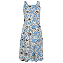 Buy Sugarhill Boutique Stacey Daisy Print Midi Dress, Blue/White Online at johnlewis.com