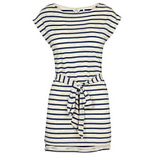 Buy Fat Face Poppy Stripe Long Line Top, Ivory Online at johnlewis.com