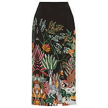 Buy Warehouse Jungle Print Midi Skirt, Multi Online at johnlewis.com