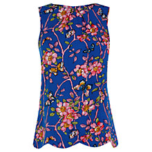 Buy Oasis Climbing Butterfly Top, Multi/Blue Online at johnlewis.com