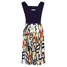 Buy Karen Millen Pleated Skirt Dress, Multicolour Online at johnlewis.com