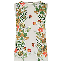 Buy Warehouse Palm Print Jungle Tank Top, Multi Online at johnlewis.com