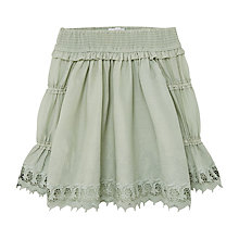 Buy Mango Kids Girls' Embroidered Blouse, Green Online at johnlewis.com