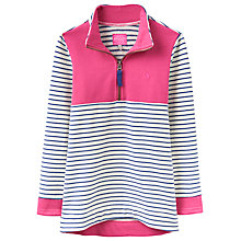Buy Joules Girls' Colour Block Stripe Sweatshirt, Navy/Pink Online at johnlewis.com