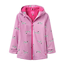 Buy Little Joule Girls' Dalmatian Raincoat, Bon Bon Online at johnlewis.com