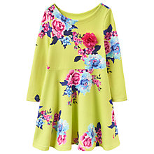 Buy Joules Girls' Floral Dress, Lime Online at johnlewis.com