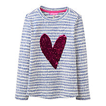 Buy Joules Girls' Sequin Heart T-Shirt, Multi Online at johnlewis.com