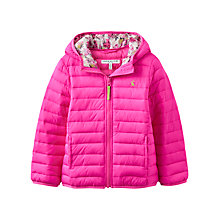 Buy Little Joule Girls' Pack Away Jacket, True Pink Online at johnlewis.com