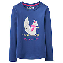 Buy Joules Girls' Squirrel on Scooter T-Shirt, Navy Online at johnlewis.com