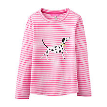 Buy Joules Girls' Stripe Dalmatian T-Shirt, Bon Bon Online at johnlewis.com