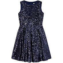 Buy Yumi Girl Sequin Skater Dress, Navy Online at johnlewis.com