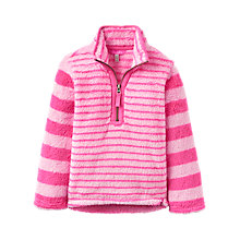 Buy Little Joule Girls' Hotchpotch Stripe Fleece, Bon Bon Online at johnlewis.com