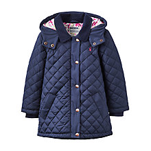 Buy Little Joule Girls' Quilted Jacket, Navy Online at johnlewis.com