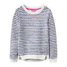 Buy Joules Girls' Mart Dashes Sweatshirt, Multi Online at johnlewis.com