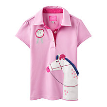 Buy Little Joule Girls' Horse Polo, Bon Bon Online at johnlewis.com