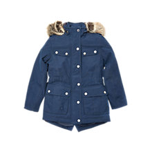 Buy Barbour International Girls' Impeller Jacket, Navy Online at johnlewis.com