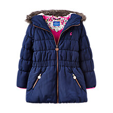 Buy Joules Girls' Merrydale Padded Coat, French Navy Online at johnlewis.com
