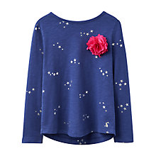 Buy Joules Girls' Star Print T-Shirt, Navy Online at johnlewis.com