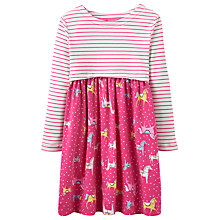 Buy Joules Girls' Stripe Pony Dress, Pink Online at johnlewis.com