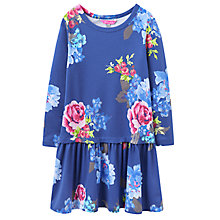Buy Little Joule Girls' Jersey Floral Dress, Navy Online at johnlewis.com