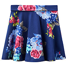 Buy Little Joule Girls' Floral Jersey Skirt, Navy Online at johnlewis.com