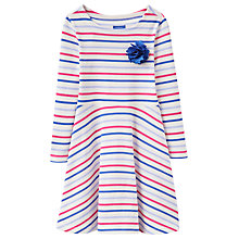 Buy Little Joule Girls' Multi Stripe Dress. Red/Blue Online at johnlewis.com