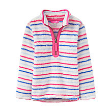 Buy Little Joule Girls' Multi Stripe Fleece Jumper, Pink Online at johnlewis.com