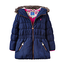 Buy Little Joule Longline Quilted Jacket, Blue Online at johnlewis.com