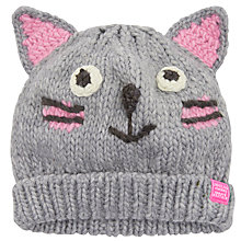 Buy Little Joule Children's Cat Knitted Hat Online at johnlewis.com