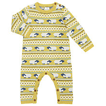Buy John Lewis Baby Knitted Fair Isle Sheep Romper, Yellow Online at johnlewis.com