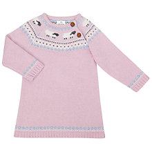 Buy John Lewis Baby Knitted Fair Isle Sheep Dress, Pink Online at johnlewis.com