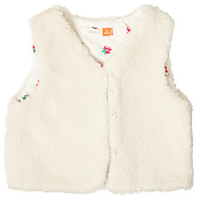 Buy John Lewis Baby Soft Gilet, Cream Online at johnlewis.com