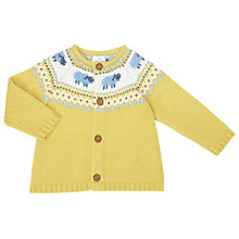 Buy John Lewis Baby Luxury Sheep Cardigan, Yellow Online at johnlewis.com