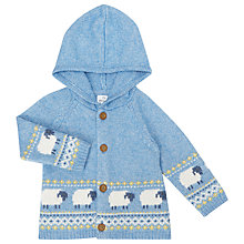 Buy John Lewis Baby Luxury Fair Isle Knit Pom Hoodie Online at johnlewis.com
