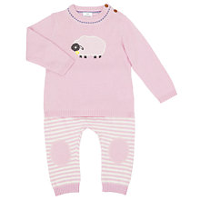 Buy John Lewis Baby Knitted Luxury Sheep Jumper and Bottoms Set Online at johnlewis.com