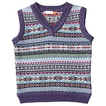 Buy John Lewis Baby Fair Isle Tank Top, Blue/Multi Online at johnlewis.com