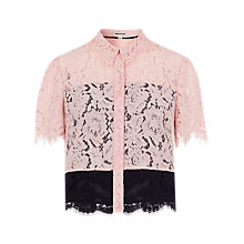 Buy Whistles Scalloped Lace Shirt, Multi Online at johnlewis.com