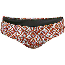 Buy Fat Face Tribal Geo Gathered Bikini Bottoms, Firebrick Online at johnlewis.com