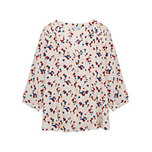 Buy Gerard Darel Floral Chemise Blouse, Beige Online at johnlewis.com