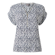 Buy Phase Eight Denver Remi Blouse, Navy/Ivory Online at johnlewis.com