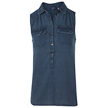 Buy Fat Face Katie Sleeveless Shirt Online at johnlewis.com