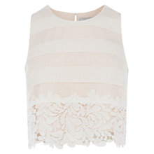 Buy Coast Vanessa Mae Lace Top, Ivory Online at johnlewis.com