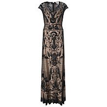 Buy Miss Selfridge Embellised Cap Sleeve Maxi Dress, Black Online at johnlewis.com