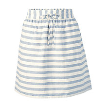 Buy Fat Face Terry Stripe Skirt, Ivory Online at johnlewis.com